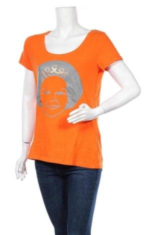 Дамска блуза Hema, Размер L, Цвят Оранжев, 95% памук, 5% еластан, Цена 12,50лв.