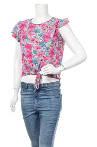 Дамска блуза Hot Kiss, Размер L, Цвят Многоцветен, 92% полиестер, 8% еластан, Цена 14,28лв.
