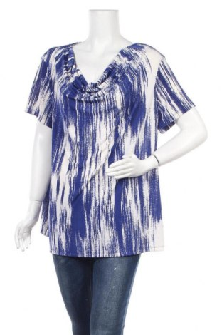 Дамска блуза Jaclyn Smith, Размер XXL, Цвят Син, 90% полиестер, 10% еластан, Цена 10,08лв.