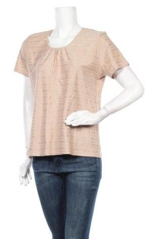 Дамска блуза Jaclyn Smith, Размер L, Цвят Бежов, 52% памук, 48% полиестер, Цена 16,80лв.