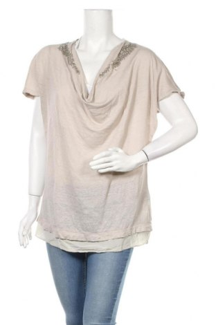 Γυναικεία μπλούζα Jones, Μέγεθος L, Χρώμα  Μπέζ, Λινό, μετάξι, Τιμή 12,47€