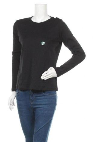 Дамска блуза L.L. Bean, Размер M, Цвят Черен, Памук, Цена 19,11лв.