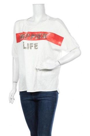 Γυναικεία μπλούζα Margittes, Μέγεθος L, Χρώμα Λευκό, Τιμή 5,91€