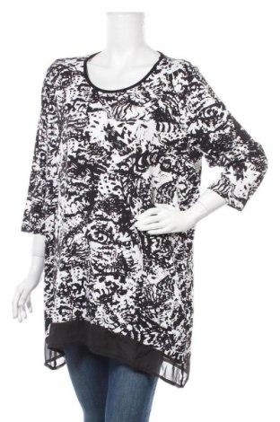 Γυναικεία μπλούζα Mia Moda, Μέγεθος XXL, Χρώμα Μαύρο, 92% βισκόζη, 8% ελαστάνη, Τιμή 6,07€