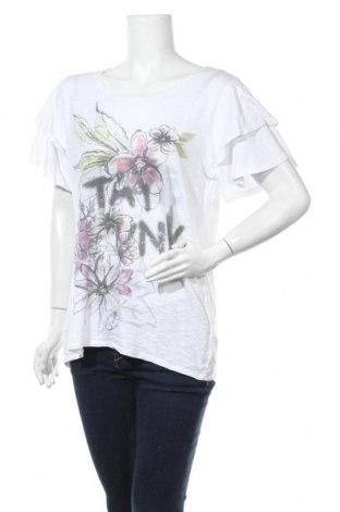 Γυναικεία μπλούζα Monari, Μέγεθος L, Χρώμα Λευκό, 50% βαμβάκι, 50% μοντάλ, Τιμή 16,46€