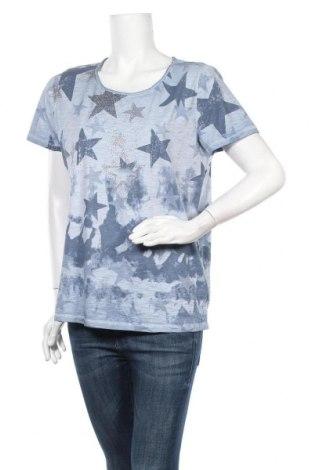 Γυναικεία μπλούζα Monari, Μέγεθος L, Χρώμα Μπλέ, Βαμβάκι, Τιμή 13,19€