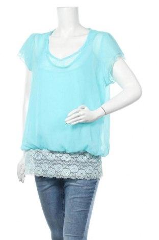 Дамска блуза Ms Mode, Размер XL, Цвят Син, Полиестер, Цена 15,17лв.