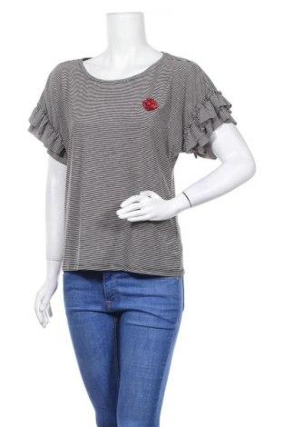 Дамска блуза My Hailys, Размер L, Цвят Черен, 57% вискоза, 39% полиестер, 4% еластан, Цена 17,85лв.