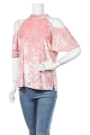 Дамска блуза New York & Company, Размер L, Цвят Розов, 95% полиестер, 5% еластан, Цена 28,56лв.