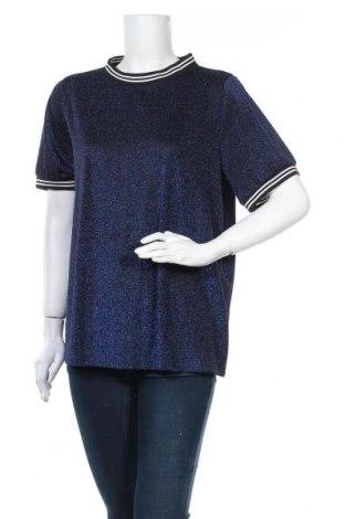 Дамска блуза Only Carmakoma, Размер L, Цвят Син, 65% полиамид, 35% метални нишки, Цена 17,96лв.