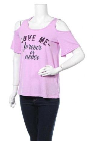 Дамска блуза Page One, Размер S, Цвят Лилав, 65% полиестер, 35% вискоза, Цена 11,03лв.