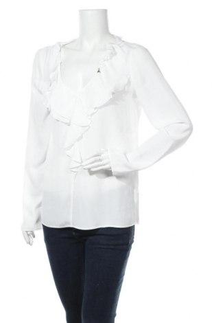 Дамска блуза Patrizia Pepe, Размер L, Цвят Бял, 76% ацетат, 24% коприна, Цена 51,62лв.