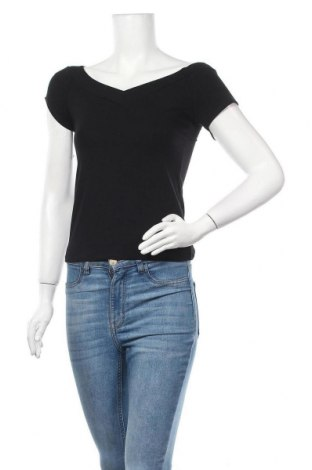 Дамска блуза Pieces, Размер M, Цвят Черен, 90% вискоза, 10% еластан, Цена 27,00лв.