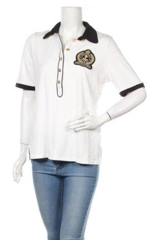Дамска блуза Pompoos Design By Harald Gloockler, Размер L, Цвят Бял, 96% вискоза, 4% еластан, Цена 18,72лв.