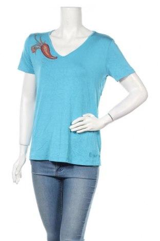 Дамска блуза Pompoos Design By Harald Gloockler, Размер L, Цвят Син, 95% вискоза, 5% еластан, Цена 18,72лв.