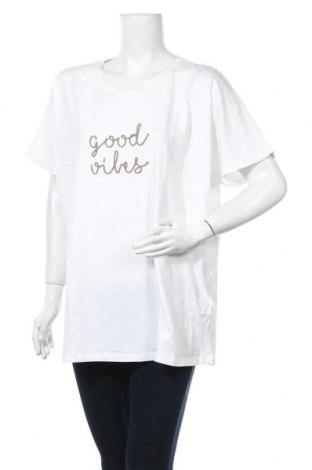 Дамска блуза Samoon, Размер XXL, Цвят Бял, Памук, Цена 14,28лв.