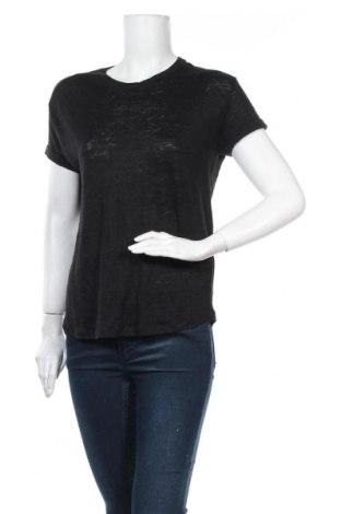 Дамска блуза Stradivarius, Размер L, Цвят Черен, Лен, Цена 11,03лв.