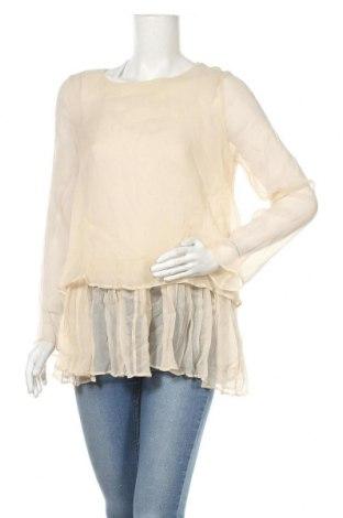 Дамска блуза TWINSET, Размер S, Цвят Бежов, Коприна, Цена 95,40лв.