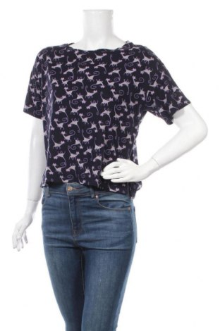 Дамска блуза Uniqlo, Размер M, Цвят Син, 60% памук, 40% модал, Цена 17,85лв.