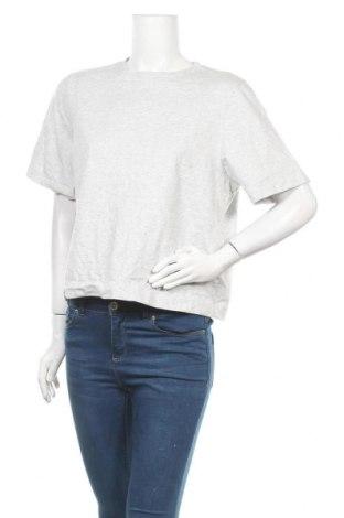 Дамска блуза Uniqlo, Размер L, Цвят Сив, Памук, Цена 14,70лв.