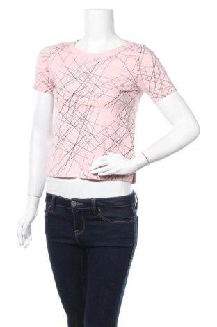 Дамска блуза Uniqlo, Размер XS, Цвят Розов, 60% памук, 40% модал, Цена 9,56лв.