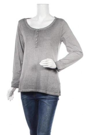 Дамска блуза Up 2 Fashion, Размер M, Цвят Сив, 100% памук, Цена 16,07лв.