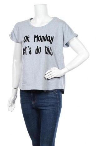 Γυναικεία μπλούζα Vrs Woman, Μέγεθος L, Χρώμα Γκρί, 77% βαμβάκι, 19% πολυεστέρας, 4% ελαστάνη, Τιμή 10,91€