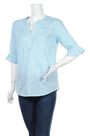 Дамска блуза Walbusch, Размер M, Цвят Син, Памук, Цена 16,96лв.