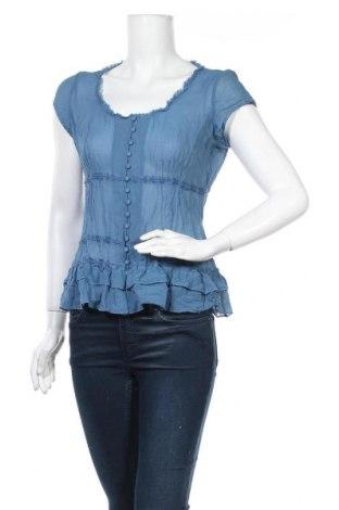 Дамска блуза Warehouse, Размер M, Цвят Син, Коприна, Цена 19,95лв.