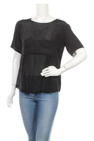 Дамска блуза Weekend Max Mara, Размер L, Цвят Черен, 95% вискоза, 5% еластан, Цена 69,46лв.