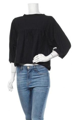 Дамска блуза Zara Trafaluc, Размер M, Цвят Черен, Цена 25,20лв.