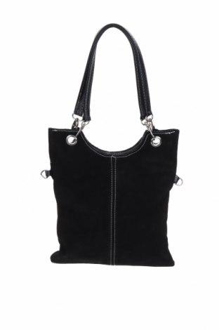 Дамска чанта, Цвят Черен, Естествен велур, естествена кожа, Цена 106,50лв.
