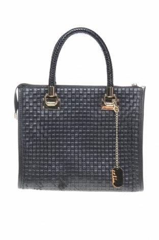 Дамска чанта Anna Morellini, Цвят Черен, Еко кожа, естествена кожа, Цена 180,95лв.