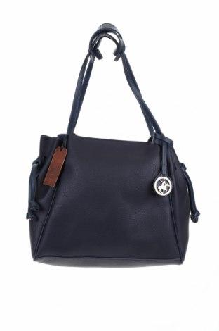 Γυναικεία τσάντα Beverly Hills Polo Club, Χρώμα Μπλέ, Δερματίνη, Τιμή 41,71€