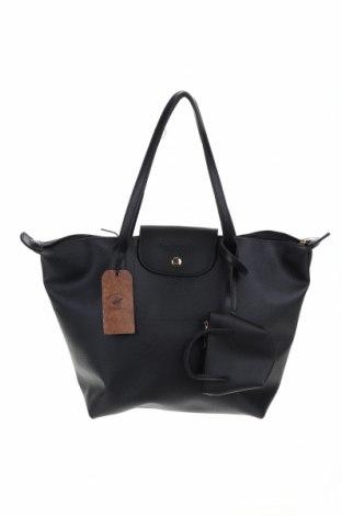 Дамска чанта Beverly Hills Polo Club, Цвят Черен, Еко кожа, Цена 87,72лв.