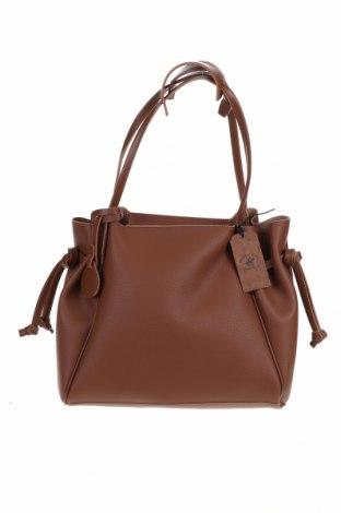 Дамска чанта Beverly Hills Polo Club, Цвят Кафяв, Еко кожа, Цена 80,92лв.