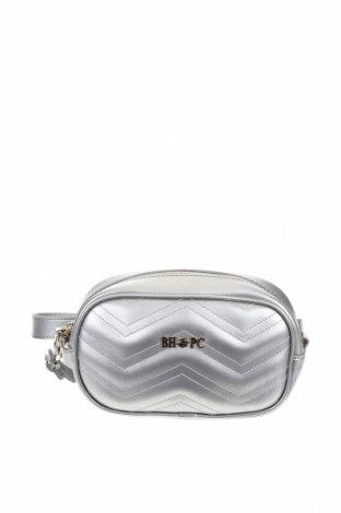 Γυναικεία τσάντα Beverly Hills Polo Club, Χρώμα Γκρί, Γνήσιο δέρμα, Τιμή 38,27€