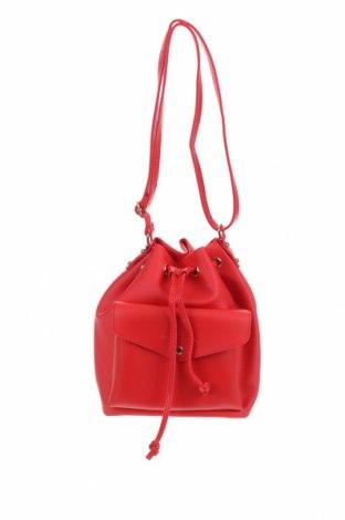 Дамска чанта Beverly Hills Polo Club, Цвят Червен, Еко кожа, Цена 39,26лв.