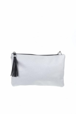 Дамска чанта Clockhouse, Цвят Сив, Еко кожа, Цена 22,94лв.