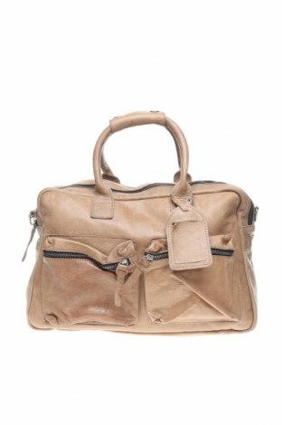 Дамска чанта Cowboysbag, Цвят Бежов, Естествена кожа, Цена 191,95лв.