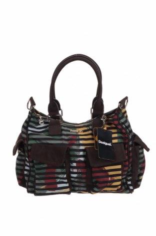 Дамска чанта Desigual, Цвят Многоцветен, Текстил, еко кожа, Цена 87,45лв.