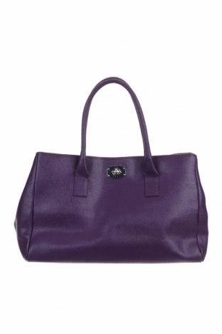 Дамска чанта Furla, Цвят Лилав, Естествена кожа, Цена 131,60лв.