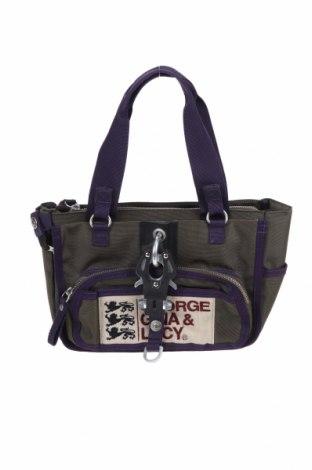 Дамска чанта George Gina & Lucy, Цвят Зелен, Текстил, Цена 30,24лв.