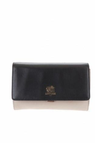 Дамска чанта Lottusse, Цвят Бежов, Естествена кожа, Цена 142,45лв.