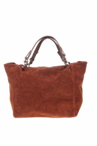Γυναικεία τσάντα Lucca Baldi, Χρώμα Καφέ, Φυσικό σουέτ, Τιμή 123,32€