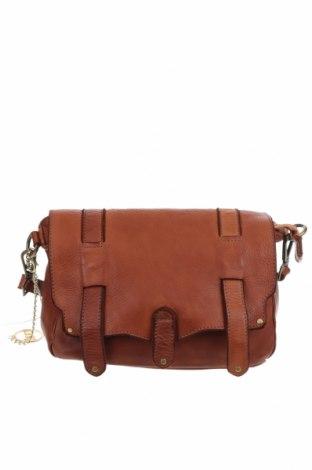 Дамска чанта Mia Tomazzi, Цвят Кафяв, Естествена кожа, Цена 143,55лв.