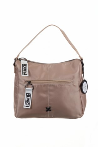 Дамска чанта Munich, Цвят Бежов, Текстил, Цена 41,40лв.