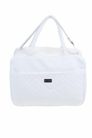 Γυναικεία τσάντα Naf Naf, Χρώμα Λευκό, Δερματίνη, Τιμή 35,57€