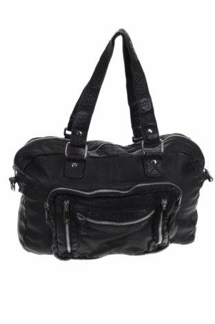 Дамска чанта Nunoo, Цвят Черен, Естествена кожа, Цена 180,95лв.