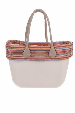 Дамска чанта O bag, Цвят Екрю, Полиуретан, текстил, еко кожа, Цена 106,50лв.